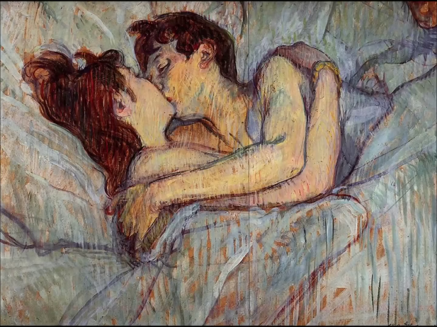 In Bed: The Kiss, by Toulouse-Lautrec